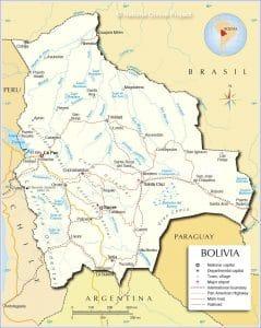 خريطة بوليفيا