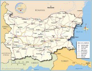 خريطة بلغاريا