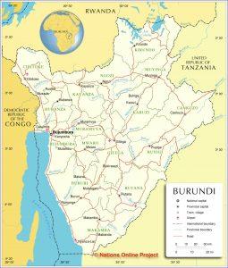 خريطة بوروندي