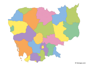 خريطة كمبوديا