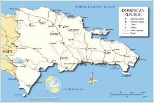 خريطة جمهورية الدومينيك