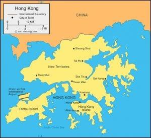 خريطة هونغ كونغ