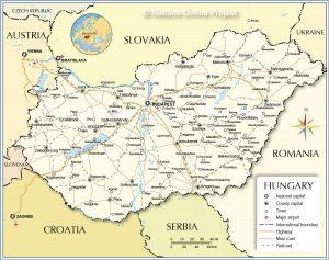 خريطة المجر