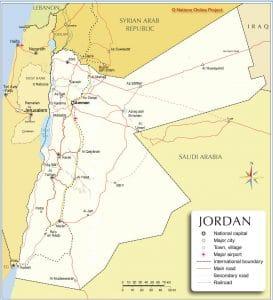 خريطة الأردن