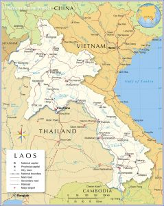 خريطة لاوس