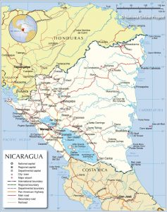 خريطة نيكاراغوا
