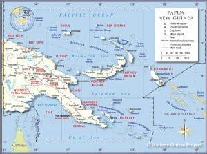 خريطة بابوا غينيا الجديدة