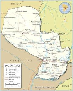 خريطة باراغواي