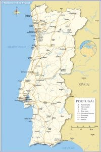 خريطة البرتغال