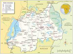 خريطة رواندا