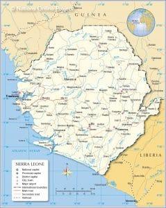 خريطة سيراليون