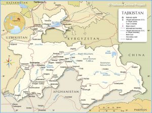 خريطة طاجيكستان