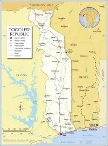 خريطة توجو
