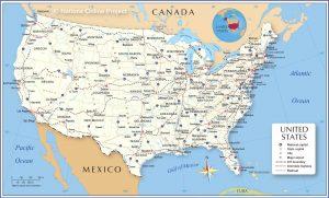 خريطة أمريكا